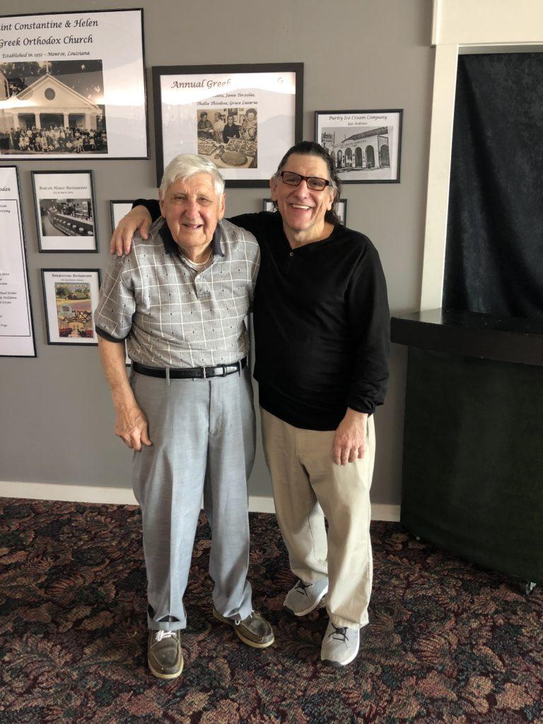 Alex George and his son, Dan